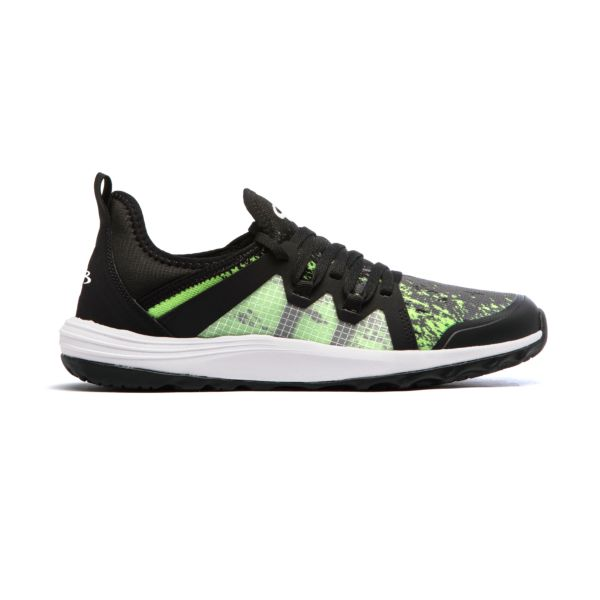 Men's Vortx Rush Golf Shoes Black/Kiwi/Charcoal