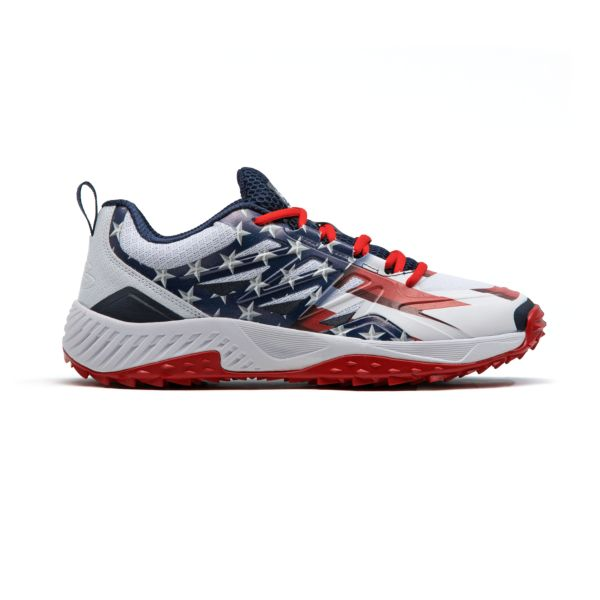Men's Challenger Flag 4 Low Turf Shoes Navy/White/Red