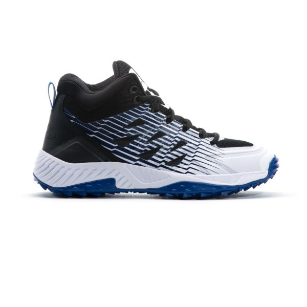 Men's Challenger Mid Turf Shoes Black/White/Royal