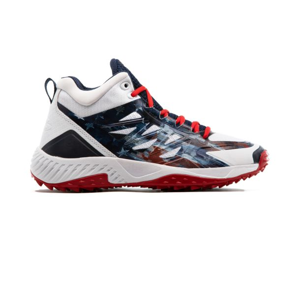 Men's Challenger Flag 1 Mid Turf Shoe Navy/White/Red