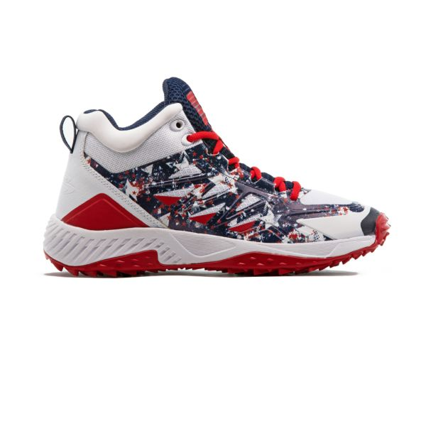 Men's Challenger Flag 2 Mid Turf Shoe Navy/White/Red