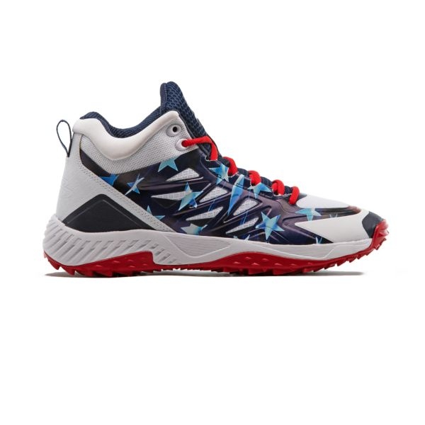 Men's Challenger Flag 3 Mid Turf Shoe Navy/White/Red
