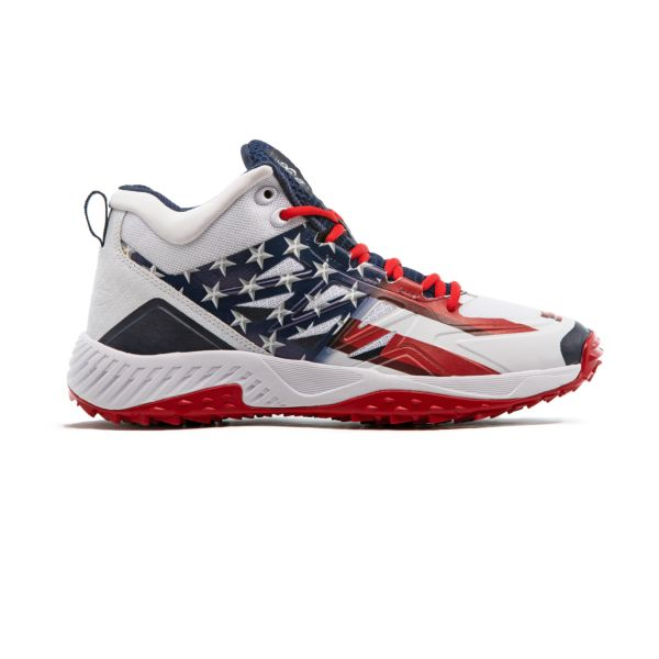 Men's Challenger Flag 4 Mid Turf Shoe Navy/White/Red
