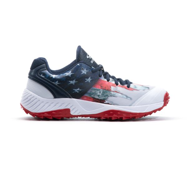 Men's Dart Flag 3 Low Turf Shoes Navy/White/Red