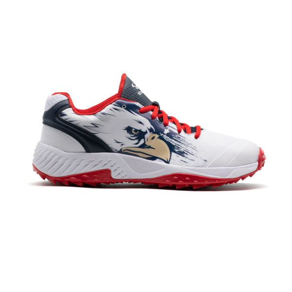 Men's Dart Flag 4 Low Turf Shoes Navy/White/Red