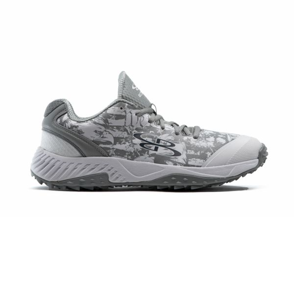 Men's Dart Flag 6 Low Turf Shoes White/Gray
