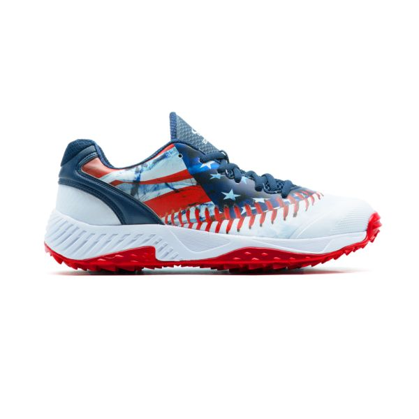 Men's Dart Flag Low Turf Shoes Navy/White/Red