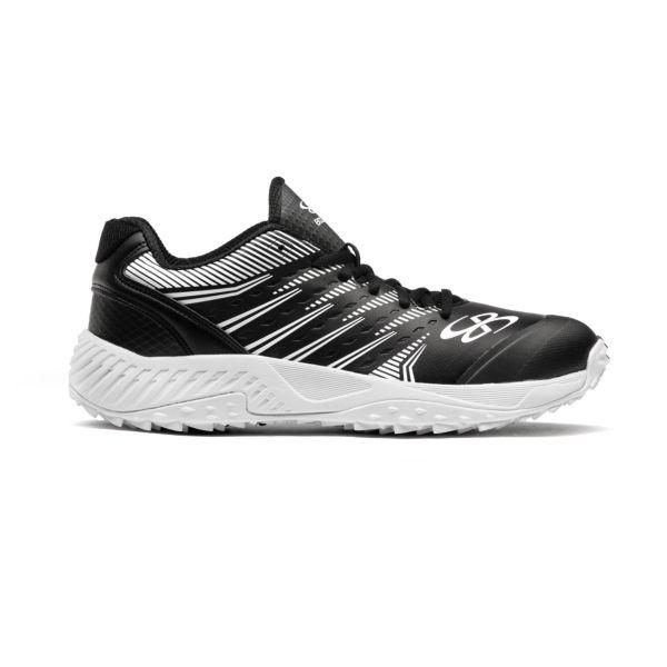 Men's Dart 3002 Low Turf Shoes Black/White