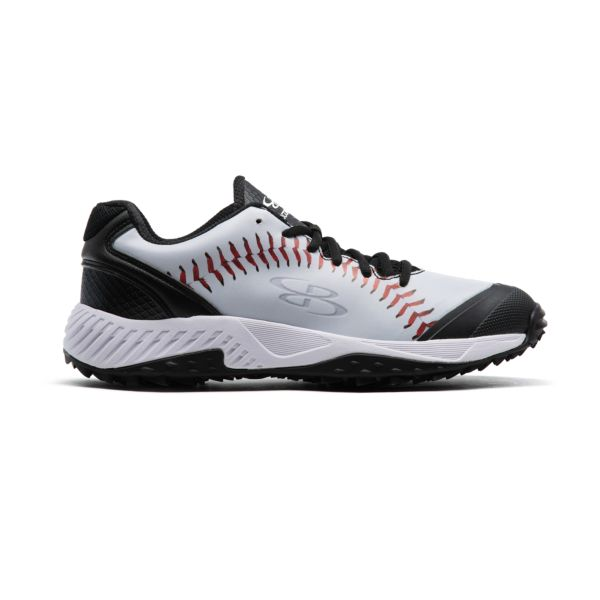 Men's Dart 3007 Stitches Low Turf Shoes Black/White/Red