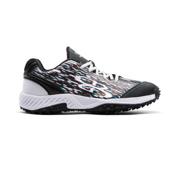 Men's Dart 3008 Glitch Low Turf Shoes Black/White