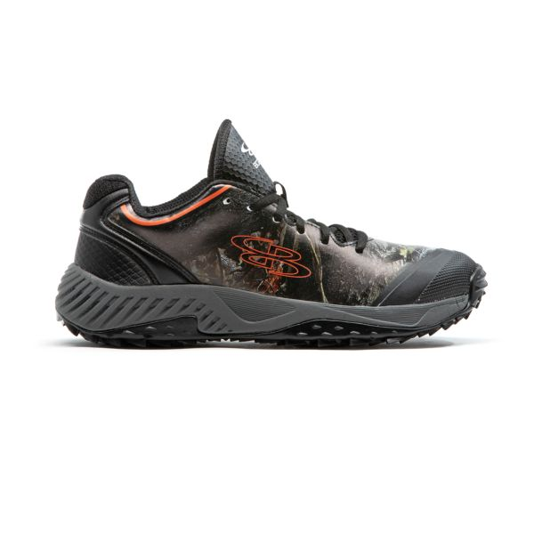 Men's Dart Big Game Turf Shoes Black/Orange