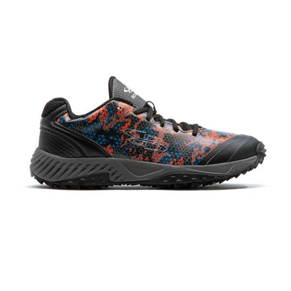Men's Dart Tech Ops Turf Shoes Black/Cyan/Flame