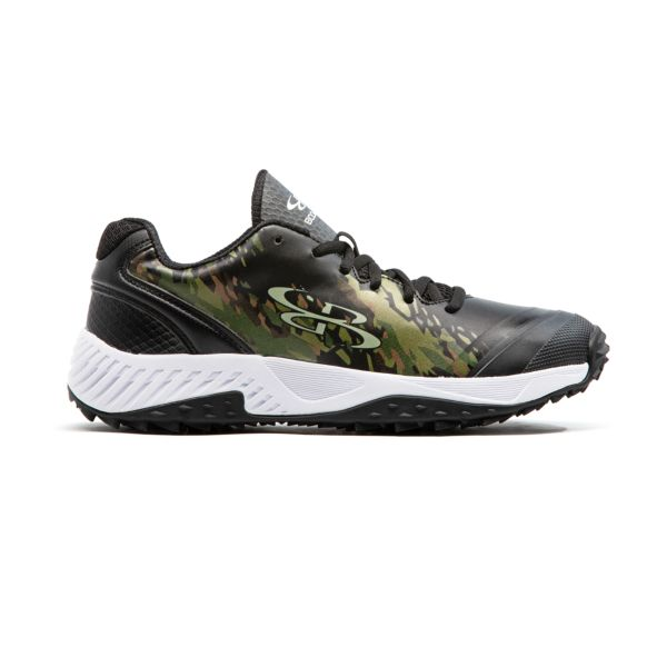Men's Dart Hexfire Low Turf Shoe Black/Olive Drab/Coyote