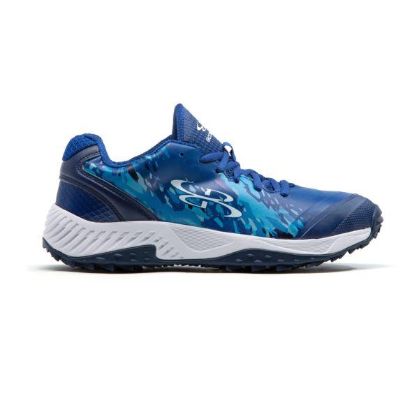 Men's Dart Hexfire Low Turf Shoe Royal Blue/Columbia Blue/Cyan