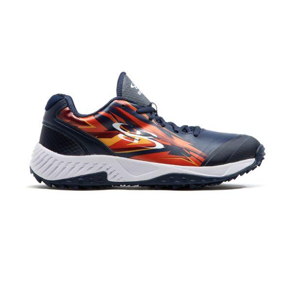 Men's Dart Voltage Low Turf Shoe Navy/Cardinal/Flame