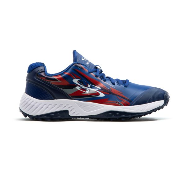 Men's Dart Voltage Low Turf Shoe Royal Blue/Navy/Red