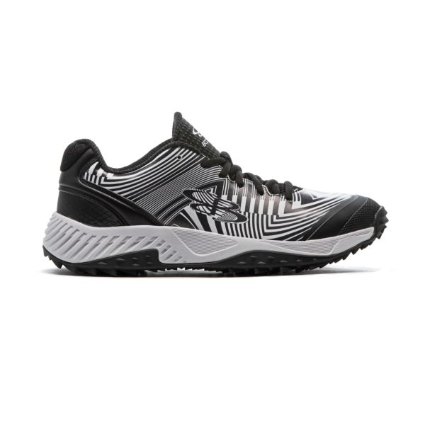 Men's Dart Distortion Turf Shoes Black/White Black/White