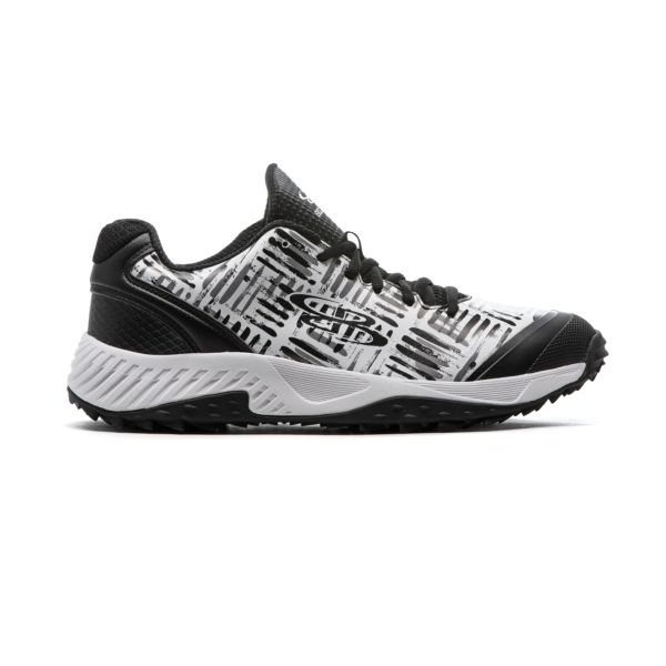 Men's Dart Crossover Turf Shoes Black/White/Charcoal Black/White/Charcoal