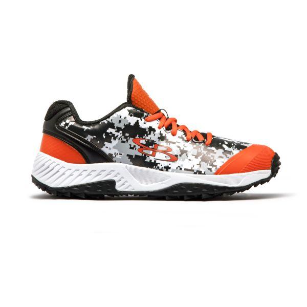 Men's Dart Digi Camo Turf Shoes Black/Orange/White