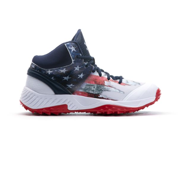 Men's Dart Flag 3 Mid Turf Shoes Navy/White/Red