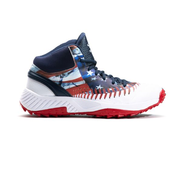 Men's Dart Flag Mid Turf Shoes Navy/White/Red