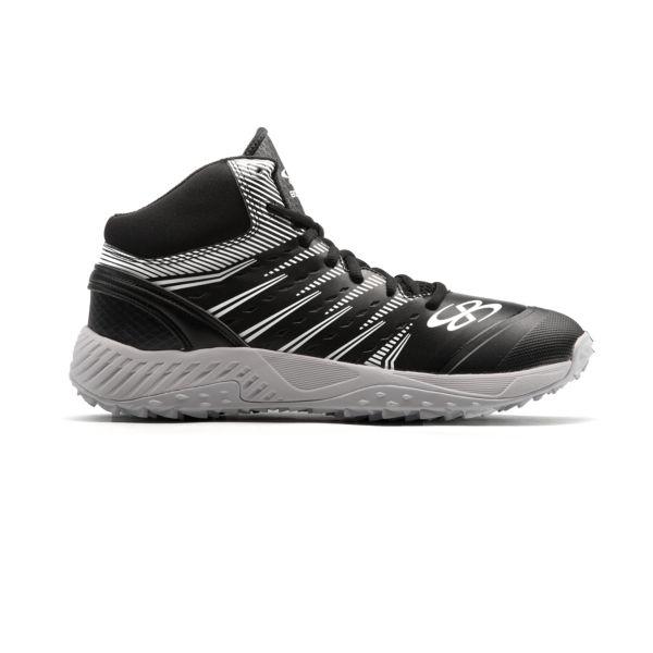 Men's Dart 3002 Mid Turf Shoes Black/White