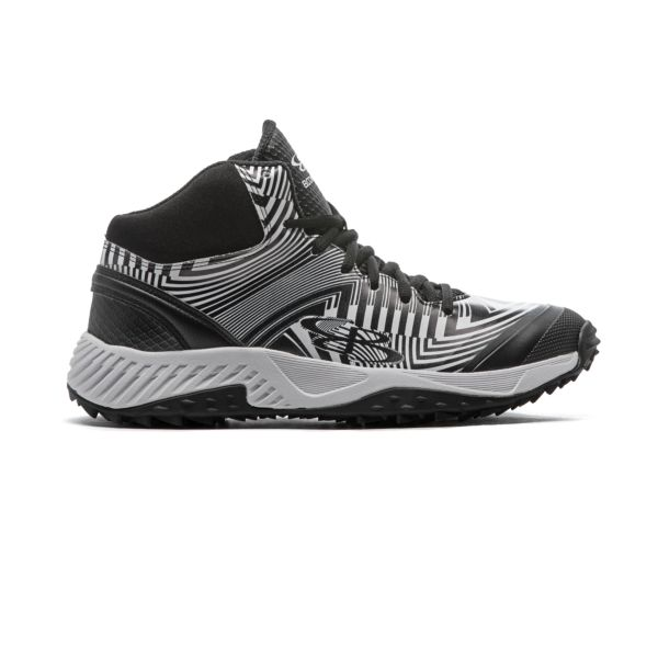 Men's Dart Distortion Mid Turf Shoes Black/White Black/White