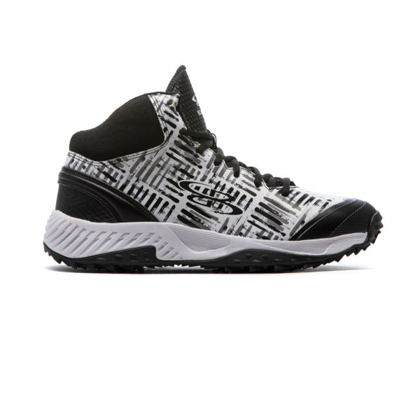 Men's Dart Crossover Mid Turf Shoes Black/White/Charcoal Black/White/Charcoal