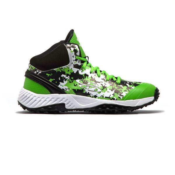 Men's Dart Digi Camo Mid Turf Shoes Black/Lime Green/White
