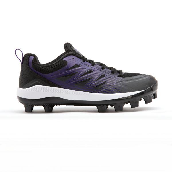 Men's Challenger Low Molded Cleats Black/Purple