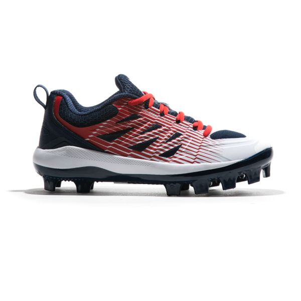 Men's Challenger Low Molded Cleats Navy/White/Red