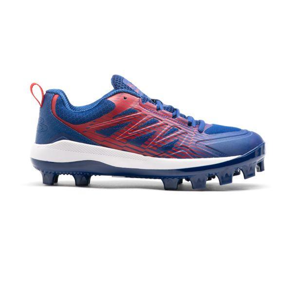 Men's Challenger Low Molded Cleats Royal/Red