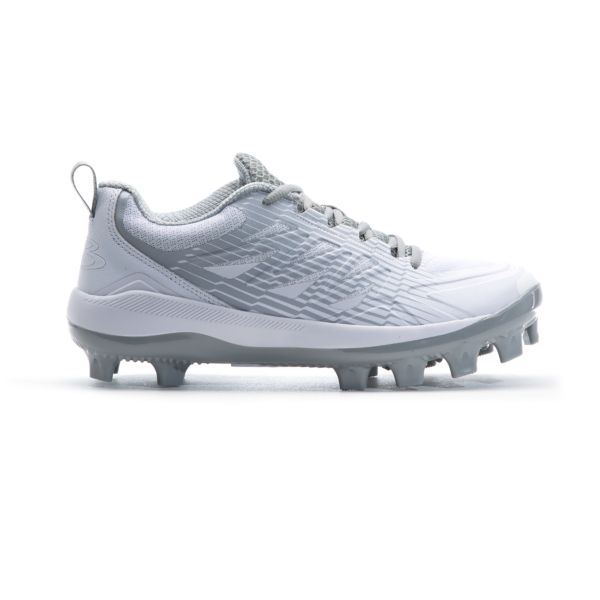Men's Challenger Low Molded Cleats White/Gray