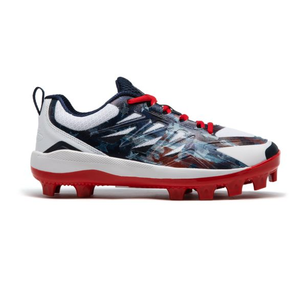 Men's Challenger Flag 1 Low Molded Cleats Navy/White/Red