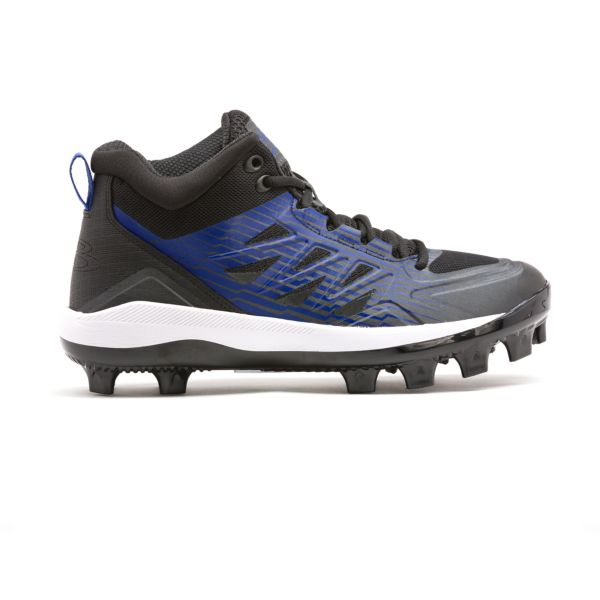Men's Challenger Mid Molded Cleats Black/Royal