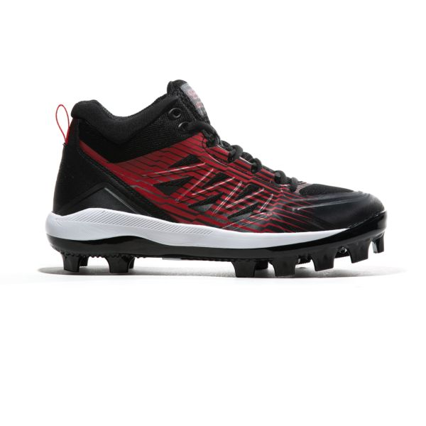 Men's Challenger Mid Molded Cleats Black/Red