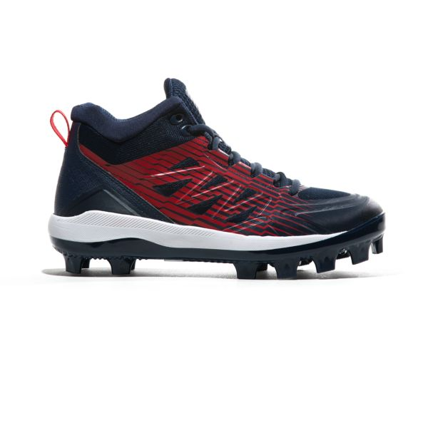 Men's Challenger Mid Molded Cleats Navy/Red