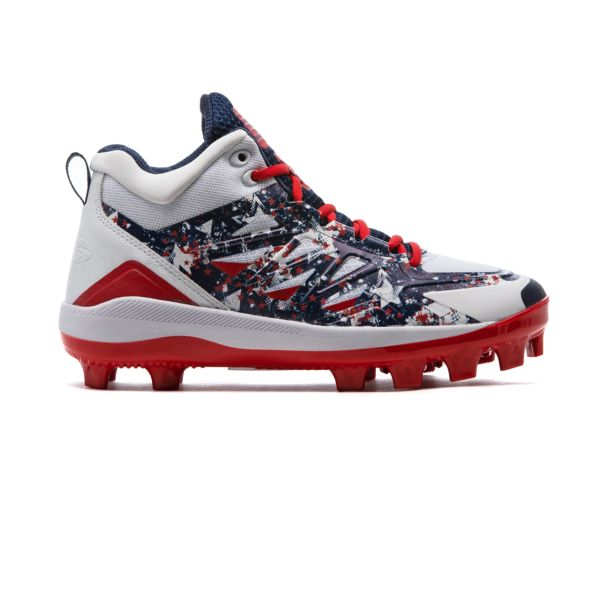 Men's Challenger Flag 2 Mid Molded Cleat Navy/White/Red