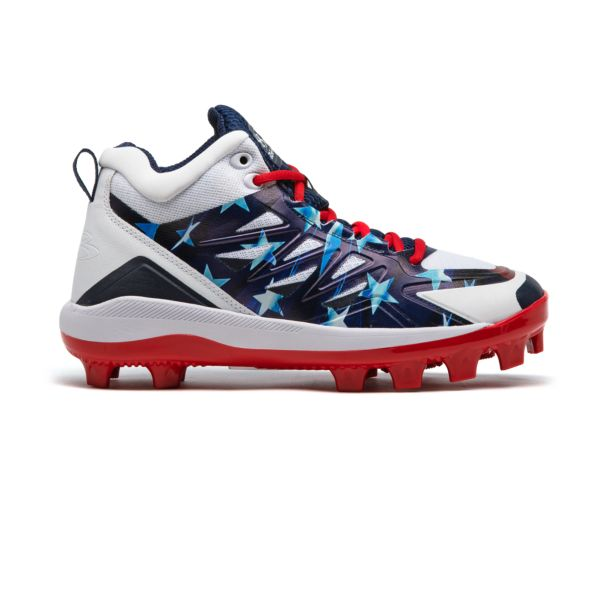 Men's Challenger Flag 3 Mid Molded Cleat Navy/White/Red
