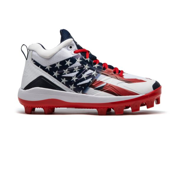 Men's Challenger Flag 4 Mid Molded Cleat Navy/White/Red