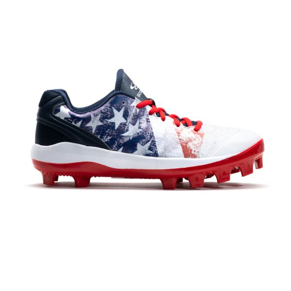 Men's Dart Flag 2 Low Molded Cleat Navy/White/Red
