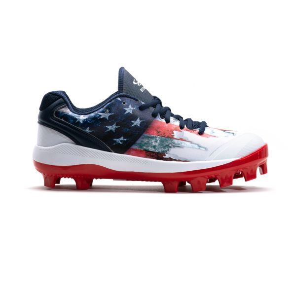 Men's Dart Flag 3 Low Molded Cleat Navy/White/Red