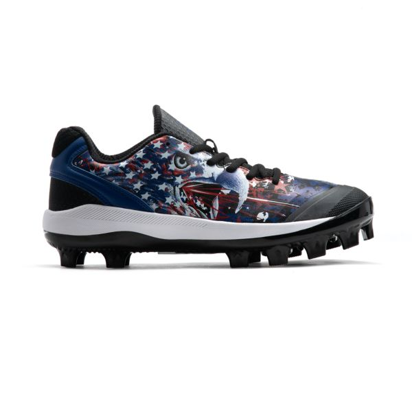 Men's Dart Flag 7 Molded Cleat Royal/Red/Black