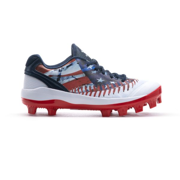 Men's Dart Flag Low Molded Cleat Navy/White/Red
