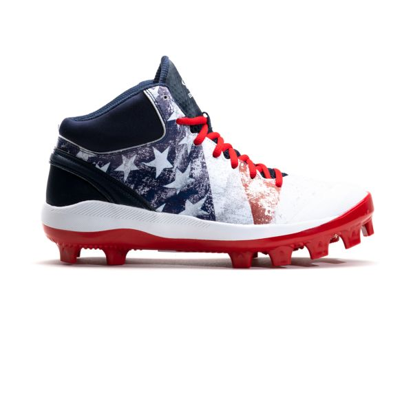 Men's Dart Flag 2 Mid Molded Cleat Navy/White/Red