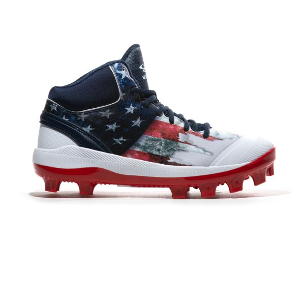 Men's Dart Flag 3 Mid Molded Cleat Navy/White/Red