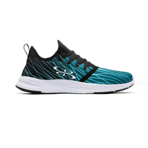 Men's Genesis Flow Fitness Shoes Black/Peacock/Aqua