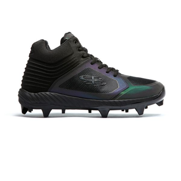 Men's Ballistic Lights Out Molded Mid Cleat Black/Oil