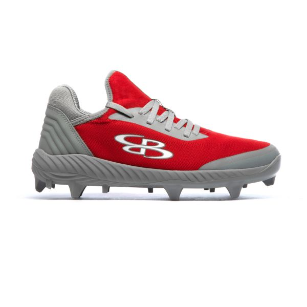 Men's Raptor Low Molded Cleats Red/Gray