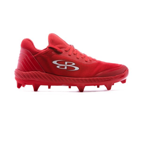 Men's Raptor Low Molded Cleats Red/Red
